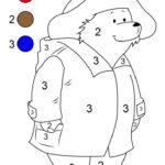 Paddington Paint By Number Printable Preschool Colors
