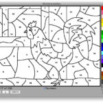 Paint By Numbers Colouring Pages page 2 Paint By