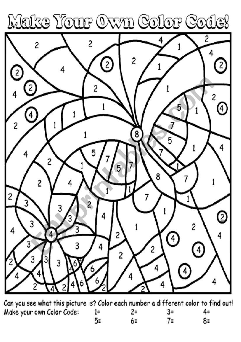 Paint By Numbers ESL Worksheet By Mrgreen10