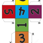 Paper Dice Cube Template With Numbers Free Printable P