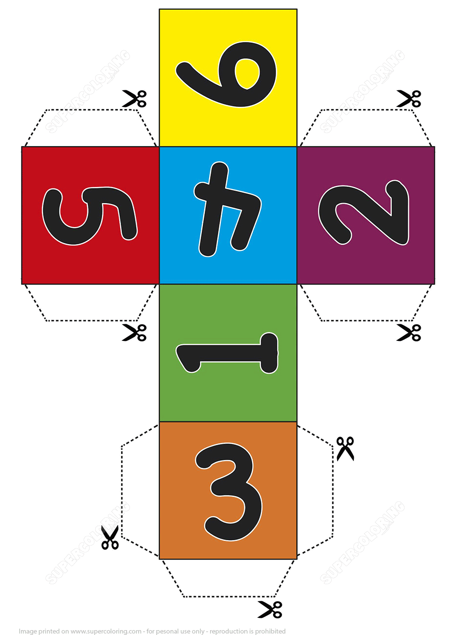 Paper Dice Cube Template With Numbers Free Printable