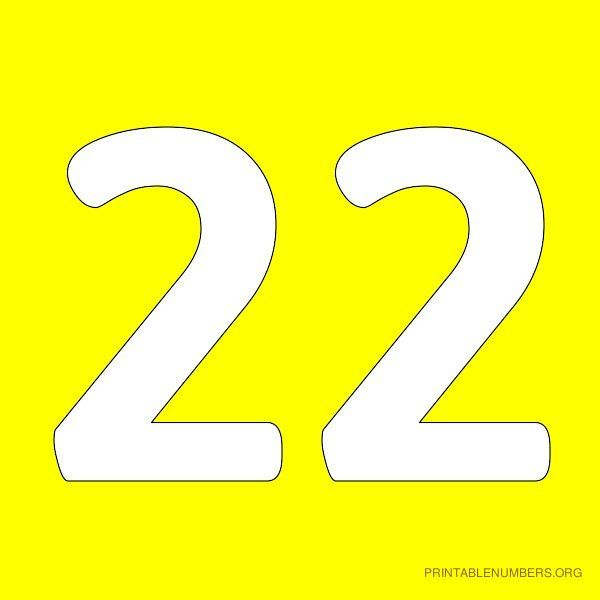 Pin By Dazie On Number 22 Printable Numbers Lettering