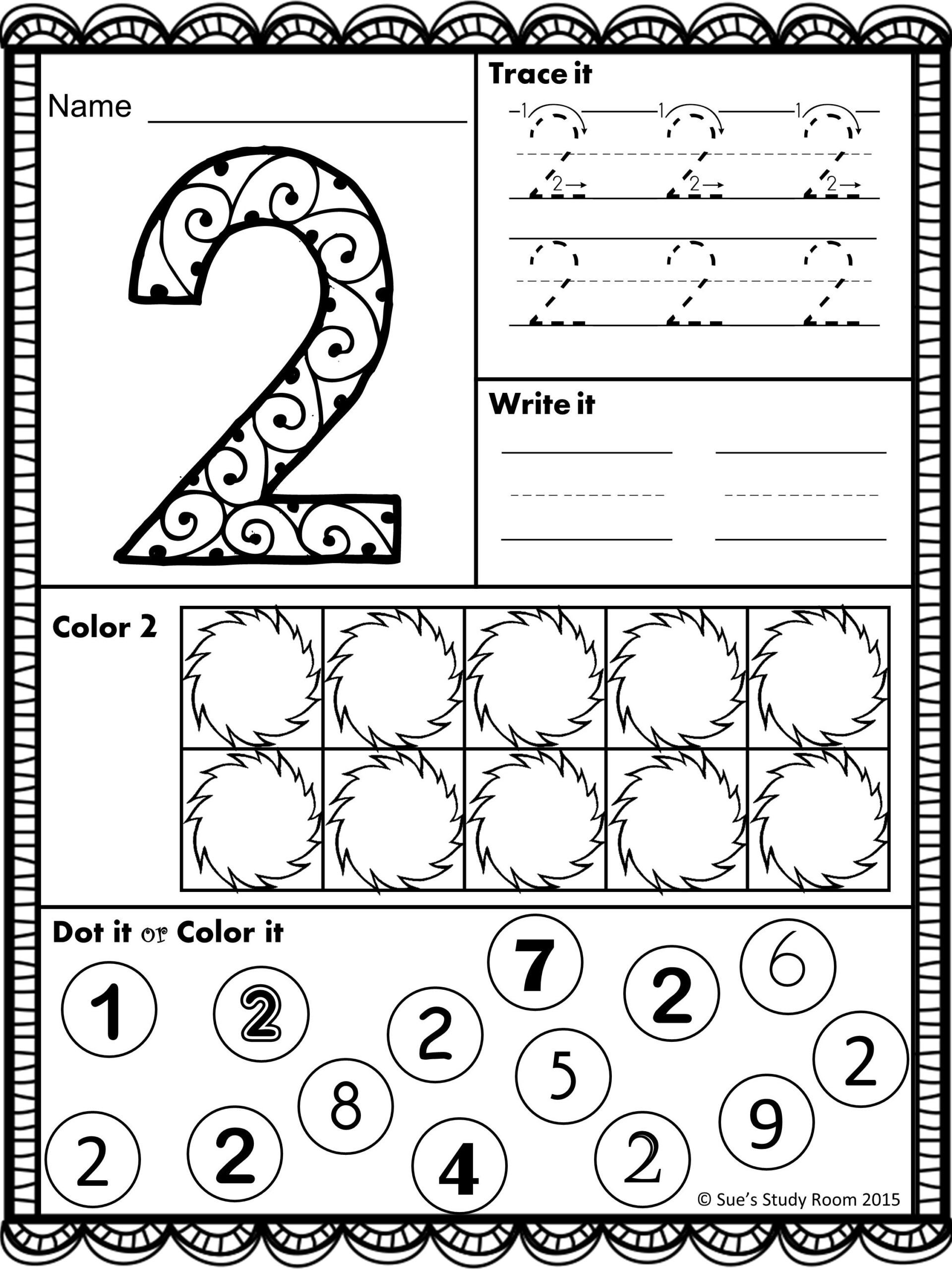 Preschool Number Recognition Worksheets NumbersWorksheet