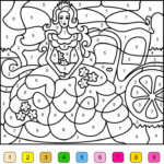 Princess Color By Number Free Online Coloring Coloring