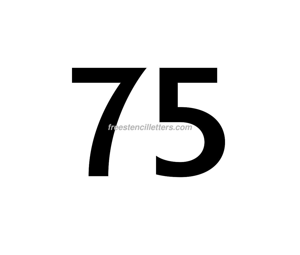 Print Number 75 Letter Stencil Free Stencil Letters
