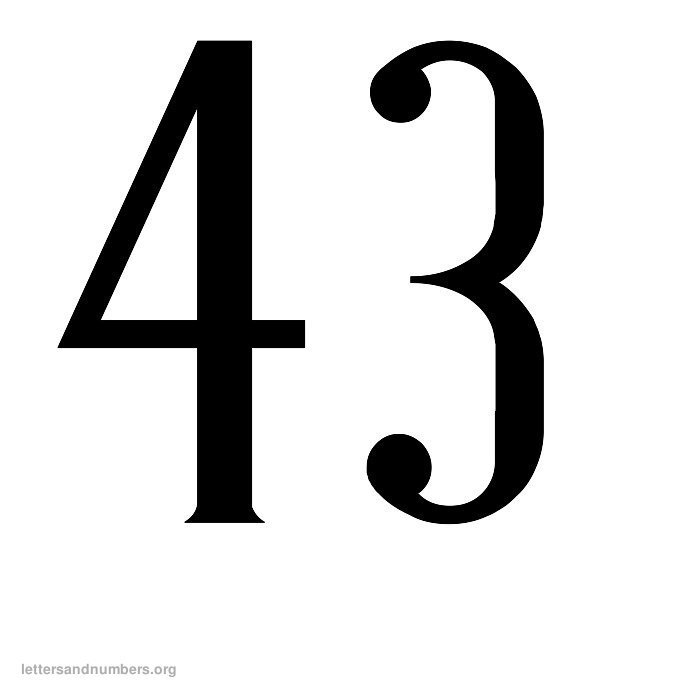 Printable Antique Numbers 1 To 50 Letters And Numbers Org