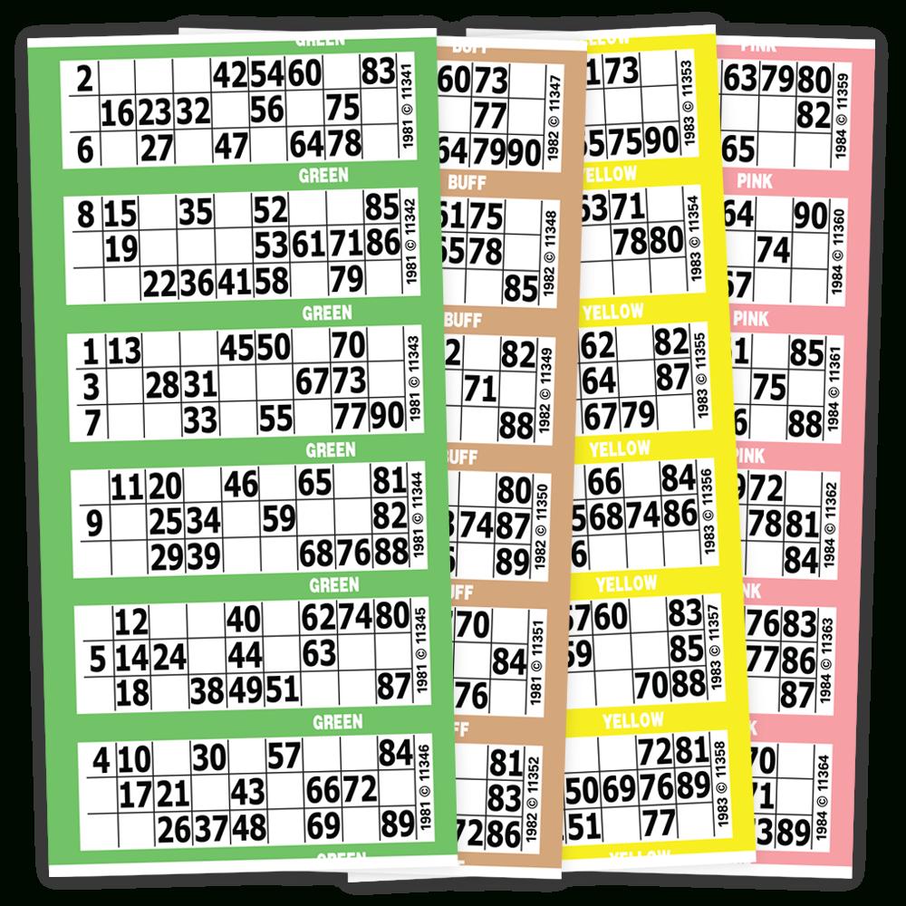 Printable Bingo Cards Numbers 1 90 Printable Bingo Cards