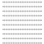 Printable Blank Number Line Templates For Math Students