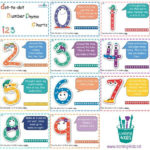 Printable Dot To Dot Number Rhyme Charts Numbers