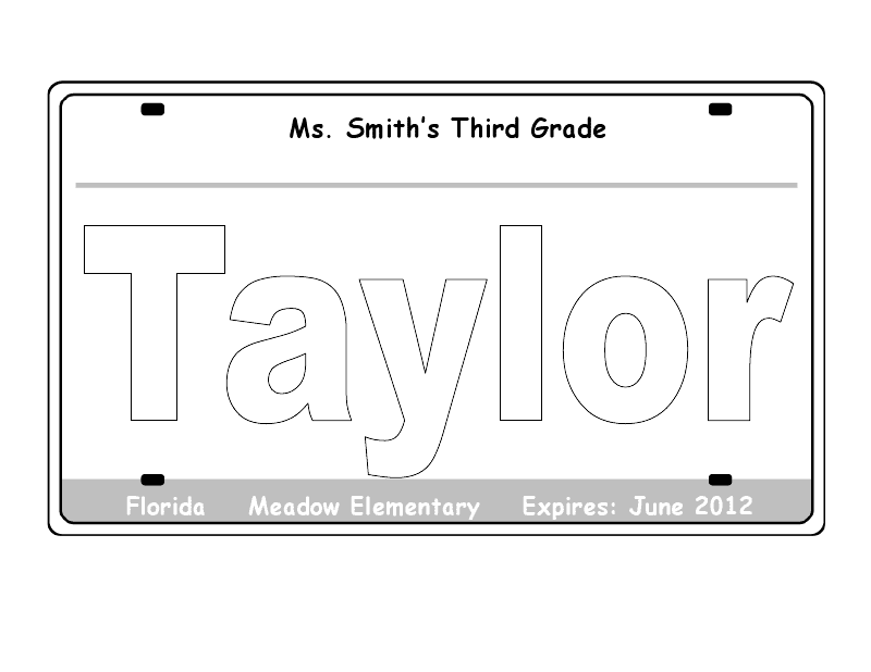Printable License Plate Template That Are Ridiculous