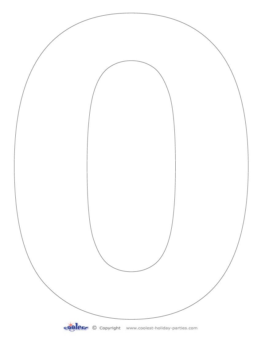 Printable Number 0 Coolest Free Printables