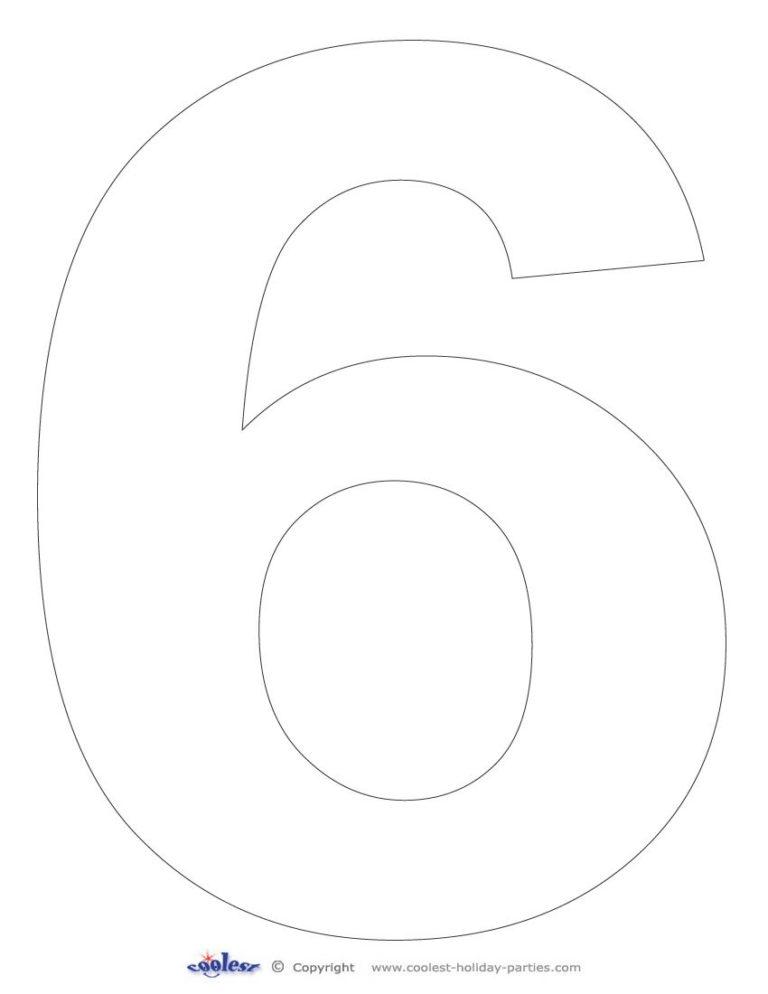 Printable Number 6 Template Free Printable Numbers