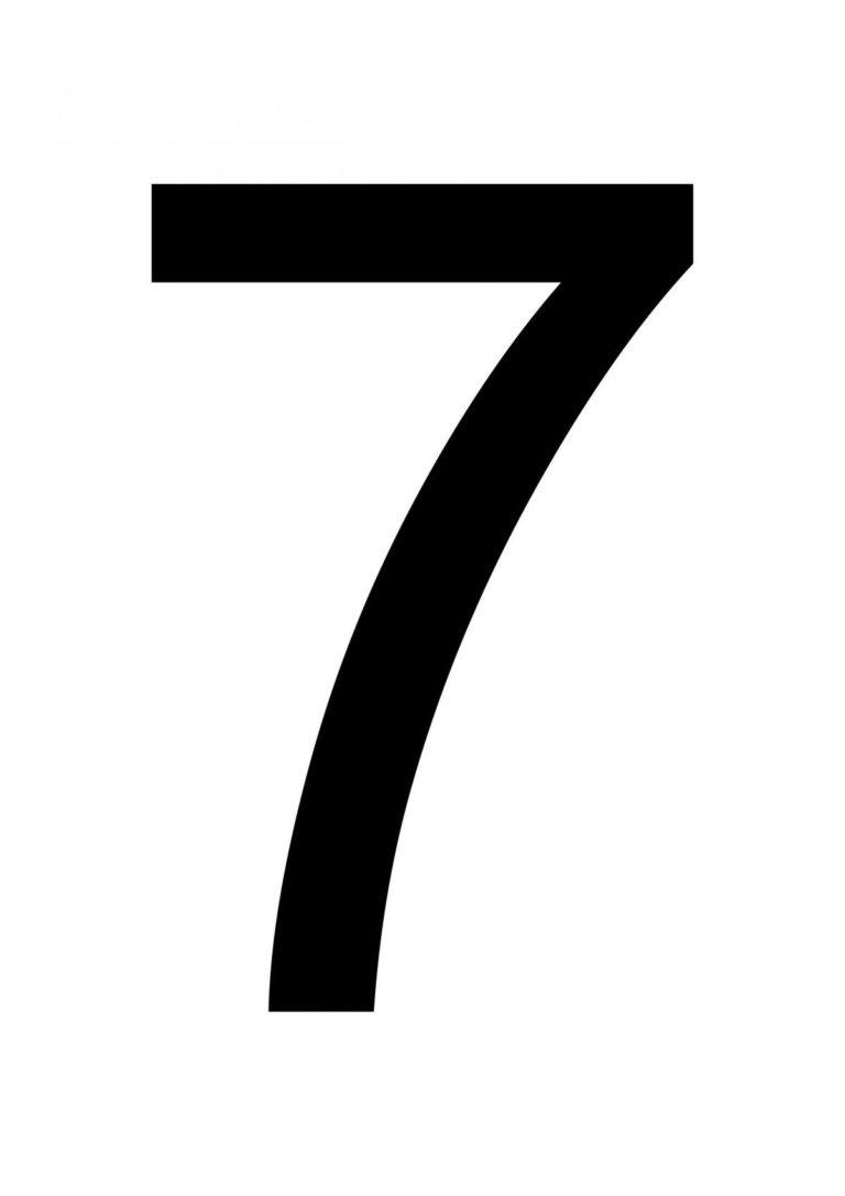 Printable Number 7 Large Printable Numbers Printable
