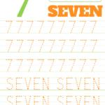 Printable Number 7 Tracing Worksheet