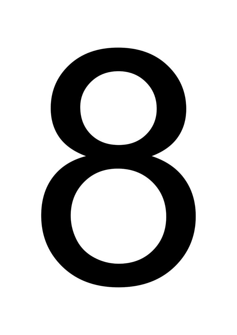 Printable Number 8 Prntbl