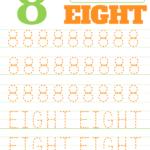 Printable Number 8 Tracing Worksheet