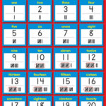 Printable Number Chart 1 20 Activity Shelter