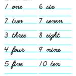Printable Number Names Worksheets Activity Shelter
