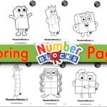 Printable Numberblocks Colouring Pages Kidsworksheetfun