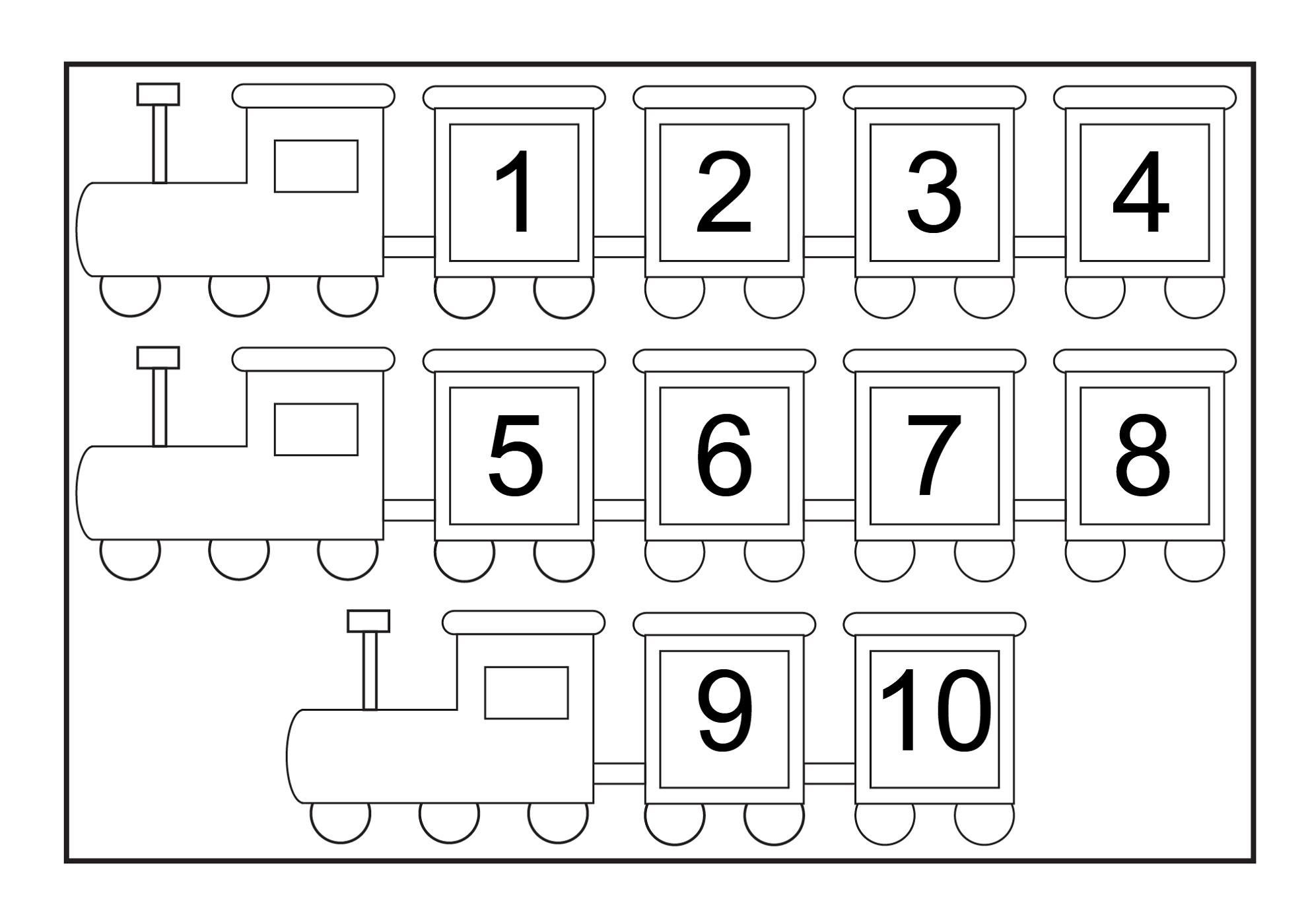 Printable Numbers 1 10 Preschool Printables 1 100 Writing