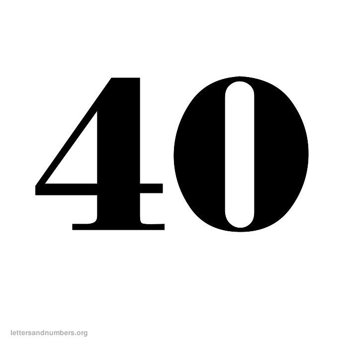 Printable Old English Numbers 1 To 50 Letters And