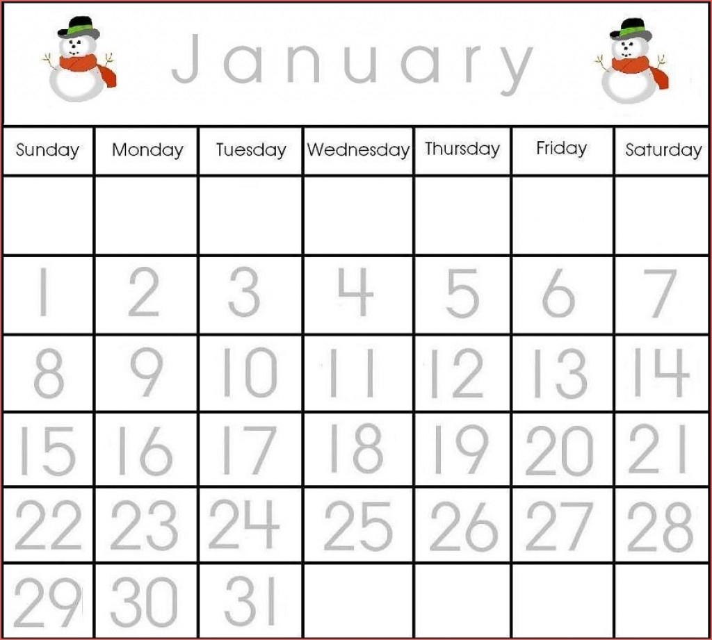 Printable Preschool Numbers 1 31 Calendar Inspiration Design