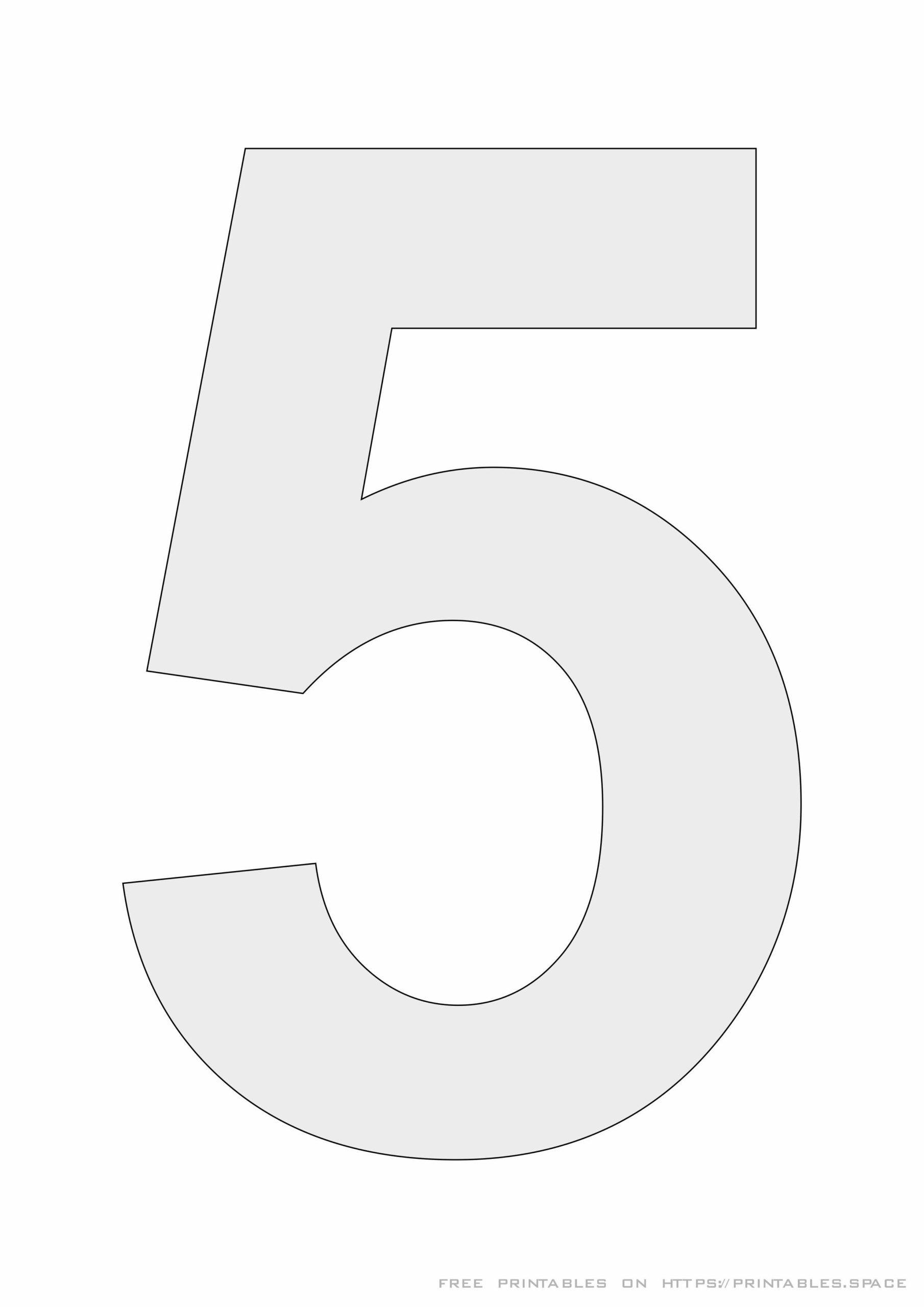 Printable Stencil Number 5 Free Printables