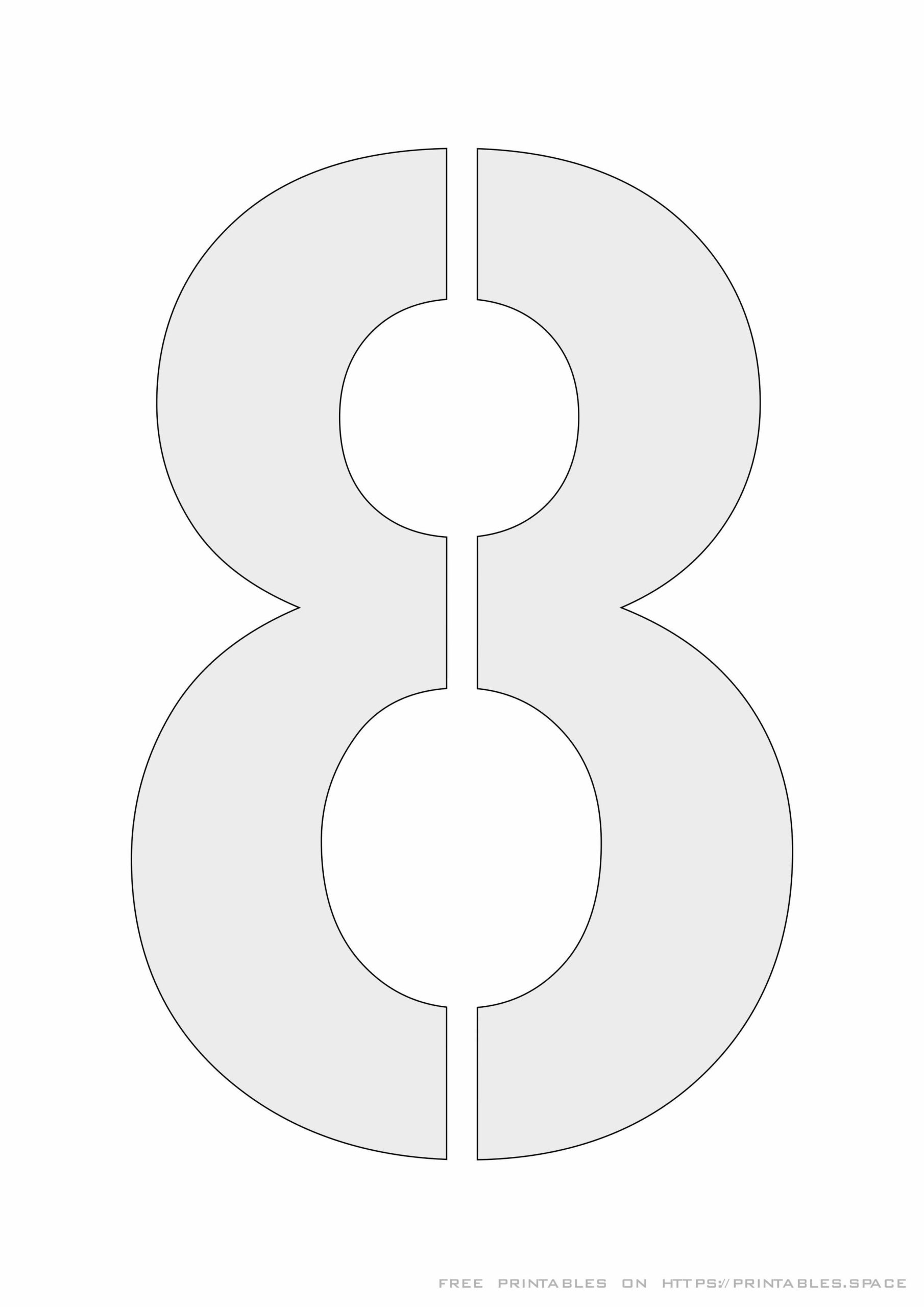 Printable Stencil Number 8 For Cut Out And Painting Free