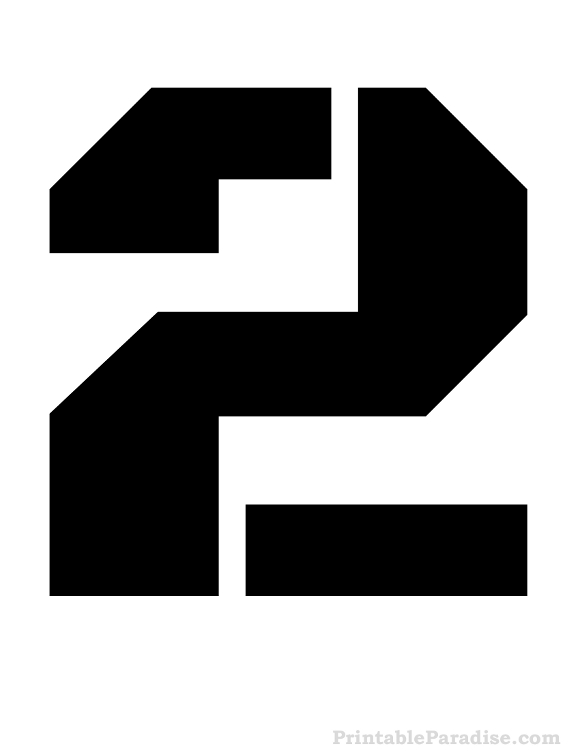 Printable Stencils For The Number 2 Stencil Printing