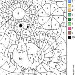 Printable Thanksgiving Turkeys Color By Number Worksheets