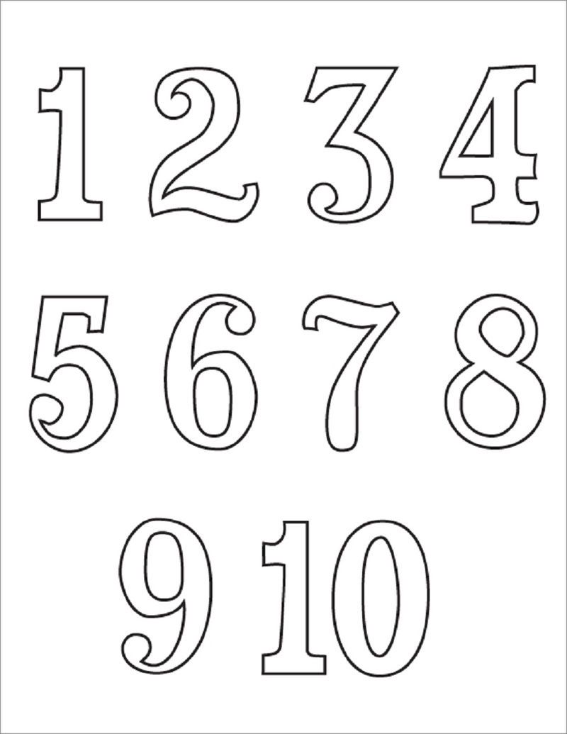 Printing Numbers 1 10 For Primary School 001 Coloring Sheets