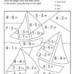 Sailing Boats Maths Facts Colouring Page