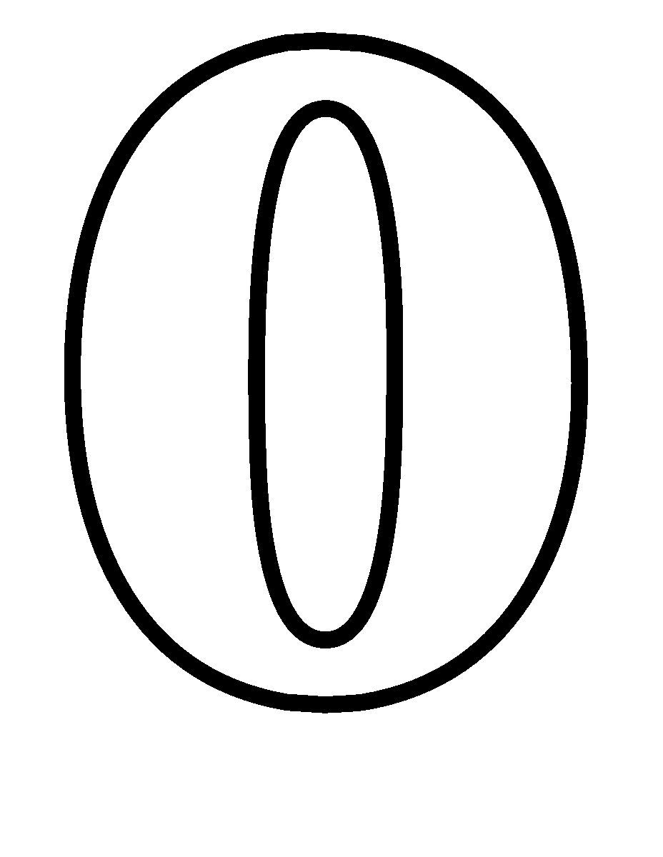 Simple Numbers Zero Coloring Pages Coloring Pages For