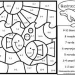 Spanish Color By Number Subtraction Ocean Set Madebyteachers