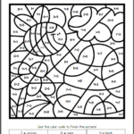 Spring Color By Number Worksheets Mamas Learning Corner