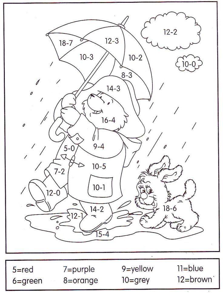 Subtraction Worksheets Kindergarten Math Math Coloring