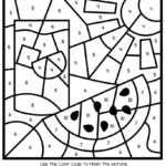 Summer Color By Number Worksheets Summer Coloring Pages