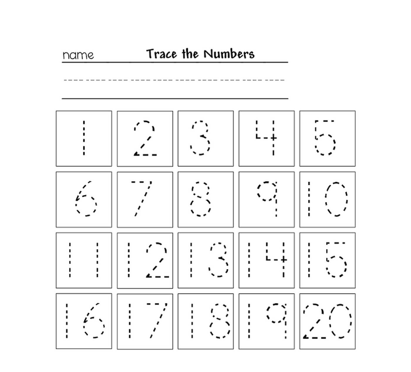 Tracing Numbers For Kg Printable Learning Printable