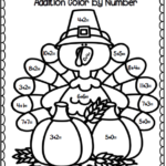 Turkey Trouble Addition Color By Number Common Core