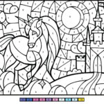 Unicorn Color By Number Free Printable Coloring Pages