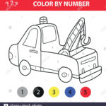 Vector Illustration Of Coloring Book For Kids Tow Truck